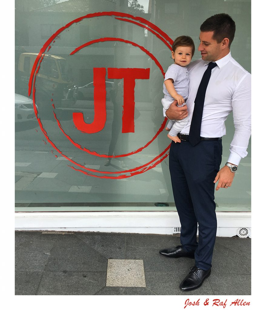 Principal of JT Allen, Josh with his son Raf